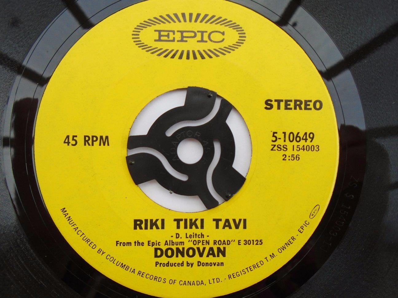 Riki Tiki Tavi/roots Of Oak - Donovan