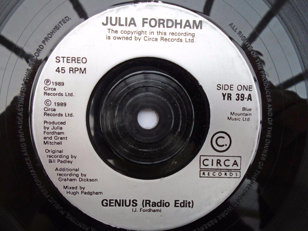 Julia Fordham - Genius/porcelain