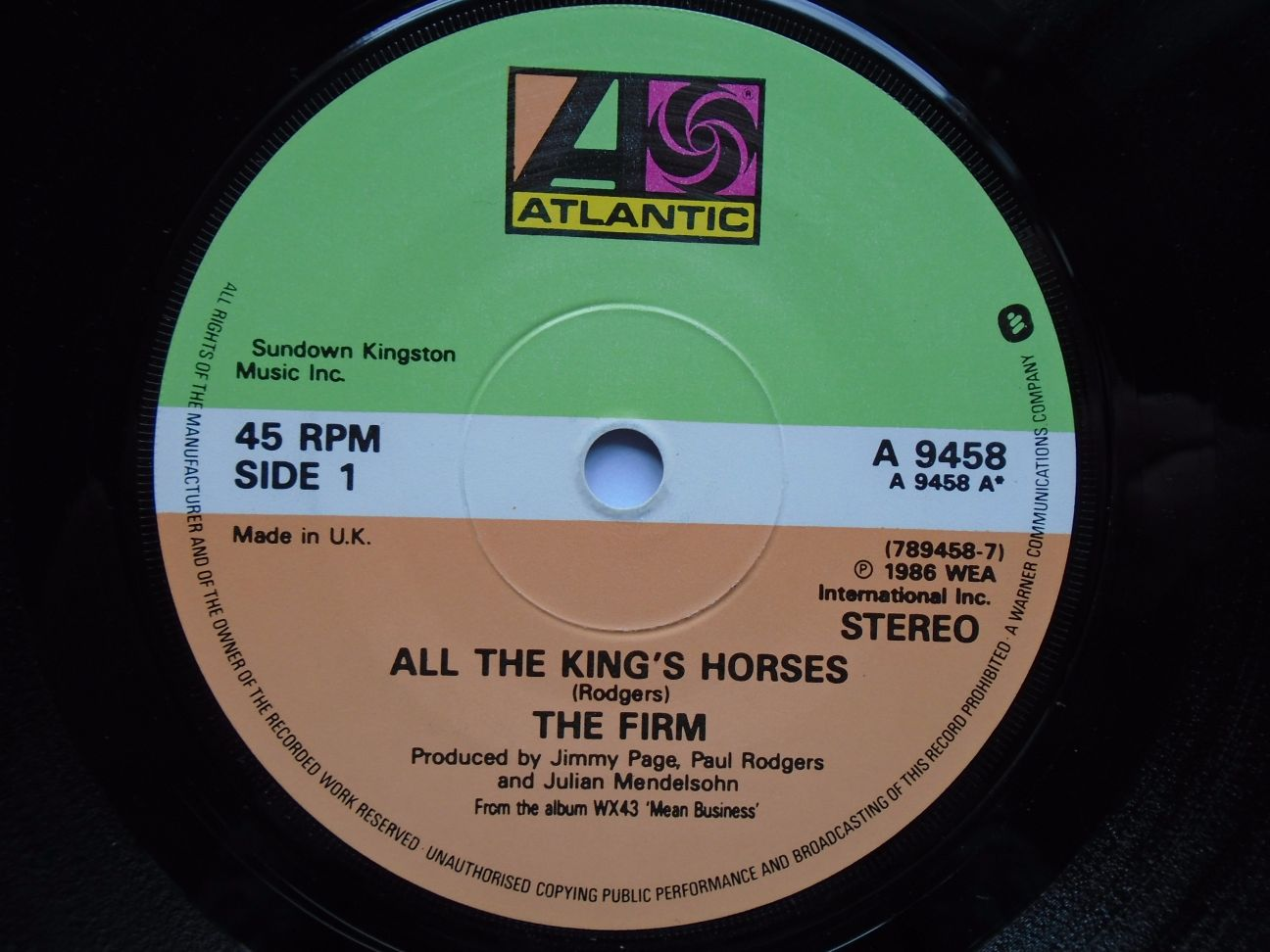 Firm - All The King's Horses/fortune Hunter