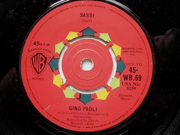 GINO PAOLI - Sassi/Al Di La - 7inch x 1