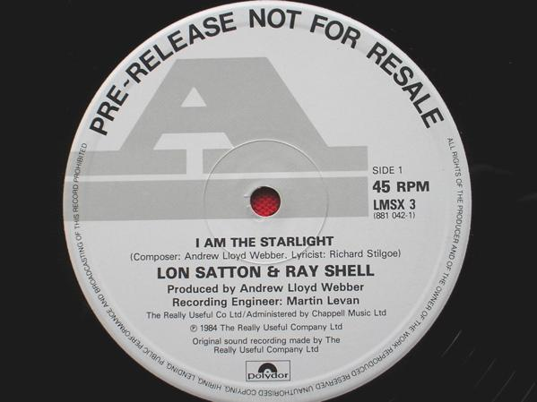 LON SATTON - I Am The Starlight/Starlight Express/CB - 12 inch 45 rpm
