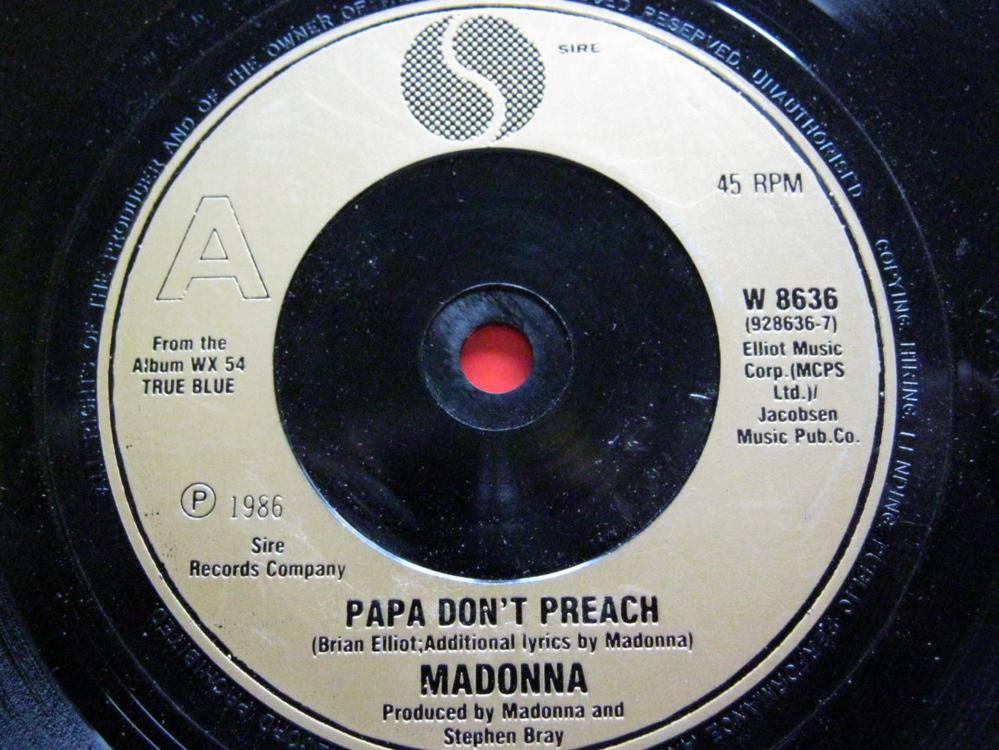 Madonna - Papa Don't Preach/ain't No Big Deal Album