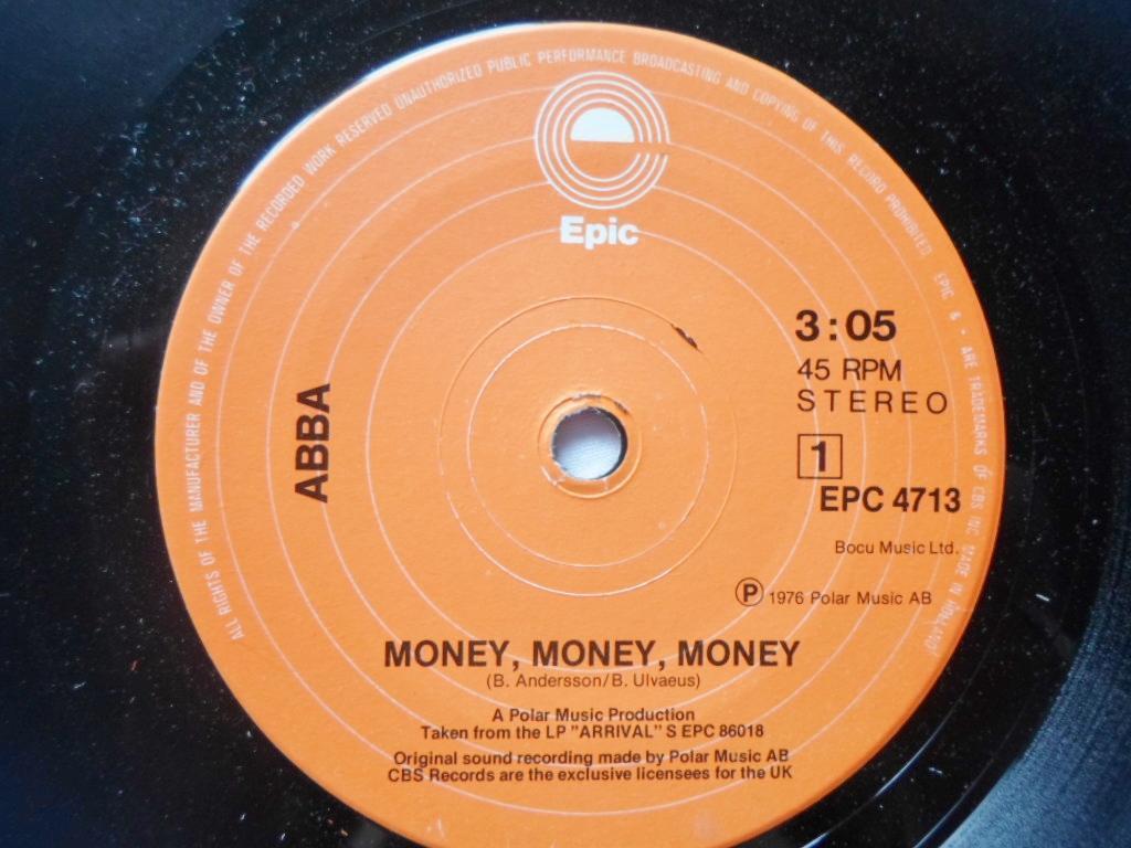 ABBA - Money Money Money/Crazy World - 45T x 1