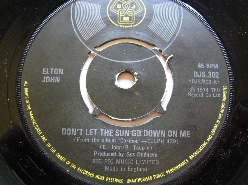 Elton John Don't Let The Sun Go Down On Me/Sick City