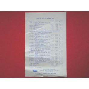 Thorens Turntables Price List